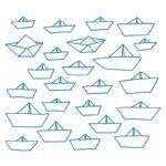 Paper Boat Bleu